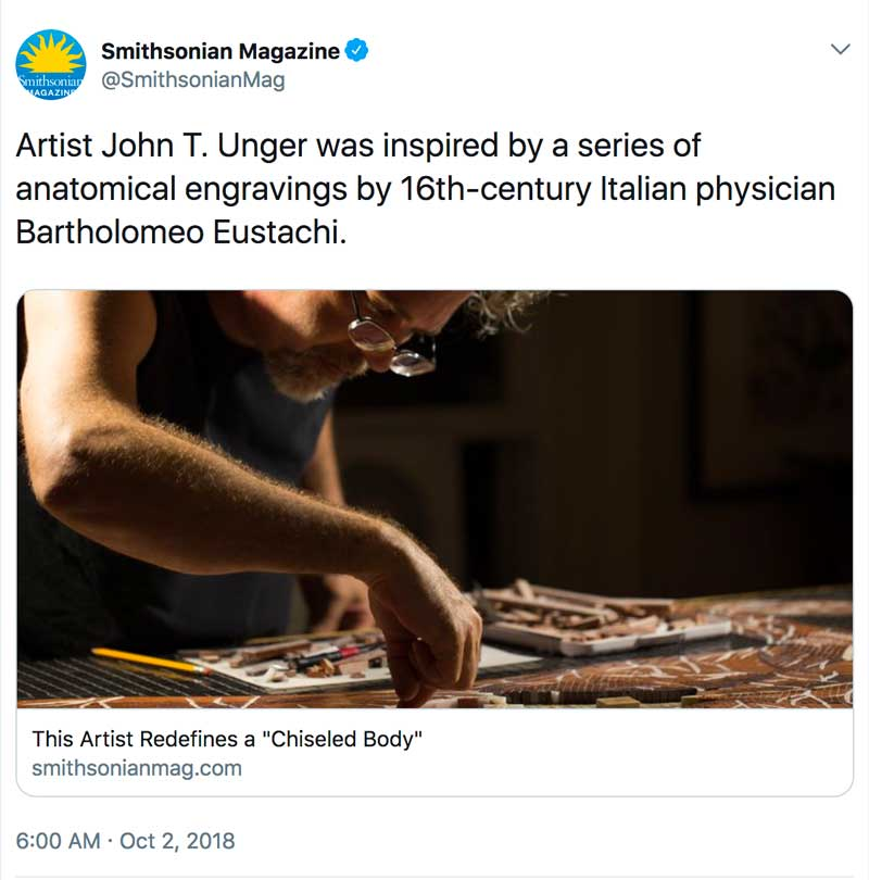 "Donahue, Michelle Z. ""This Artist Redefines a 'Chiseled Body.'"" Smithsonian.com, Smithsonian Institution, 1 Oct. 2018"
