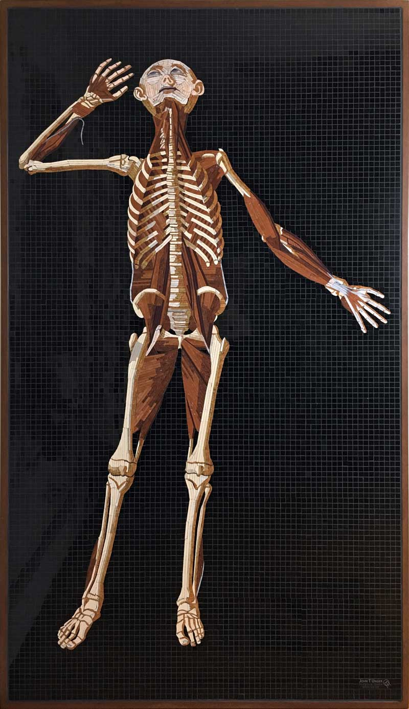 Marble Mosaic of Table 38 of Eustachi's Tabulae anatomicae, 2019