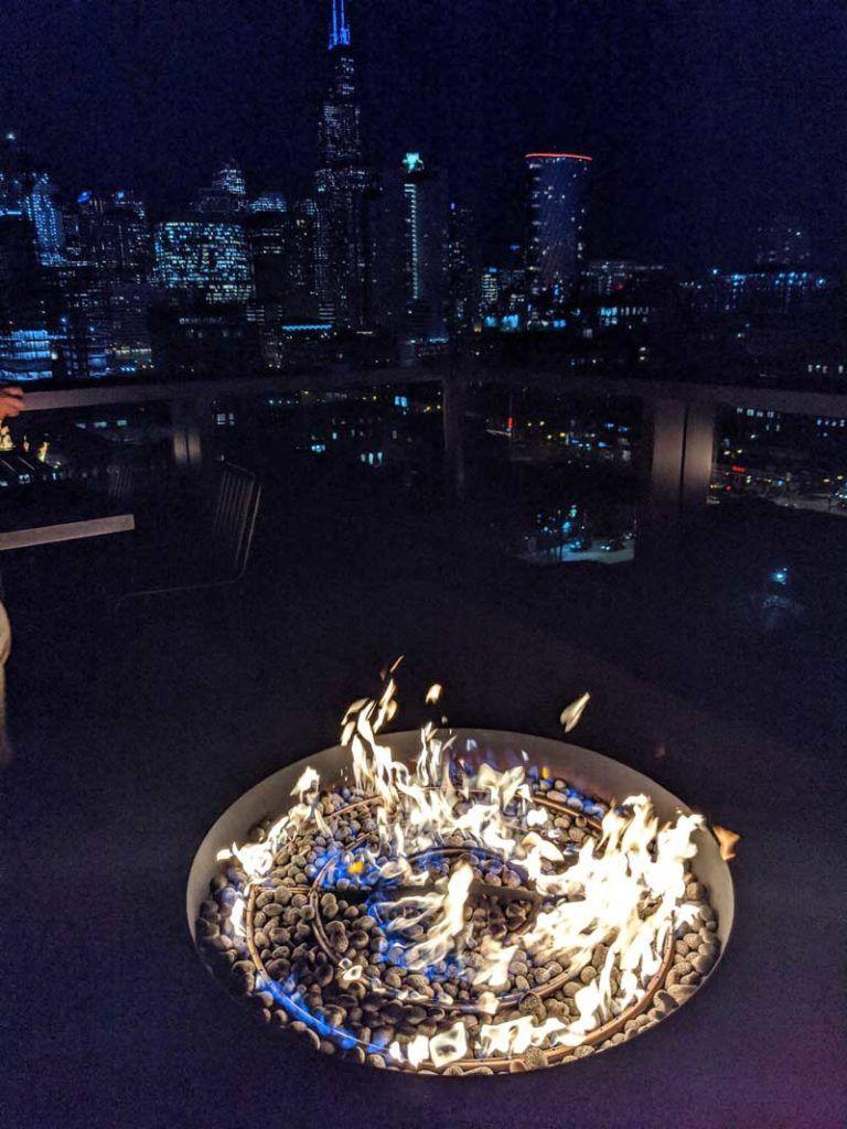 Big Bowl O' Zen fire feature Google HQ Chicago