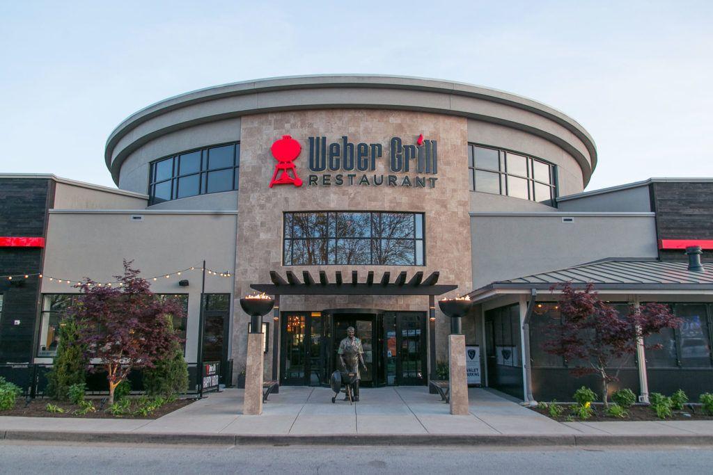 Big Bowl O Zen Sculptural Firebowls at The Weber Grill Restaurant, St. Louis, MO